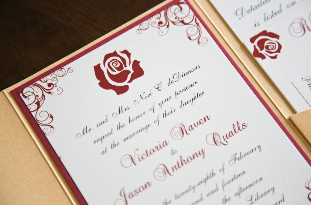 Beauty and the Beast Inspired Invitations