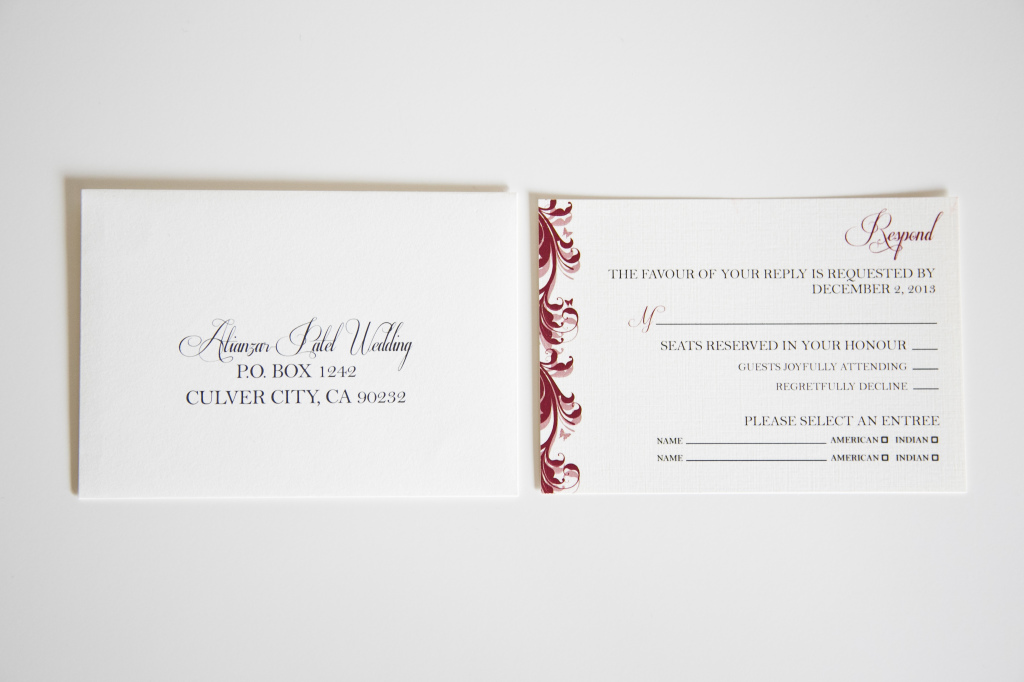 Detailed Burgundy & Purple Invitation Collection