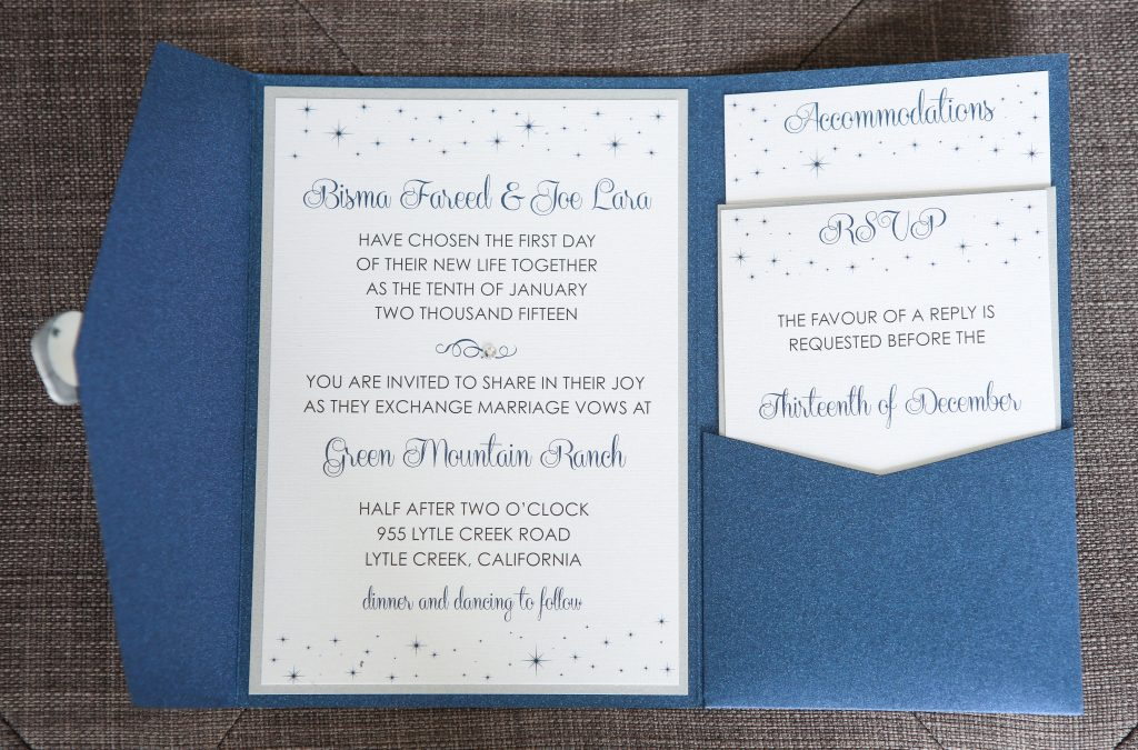 Deep Cerulean Blue Invitation Collection