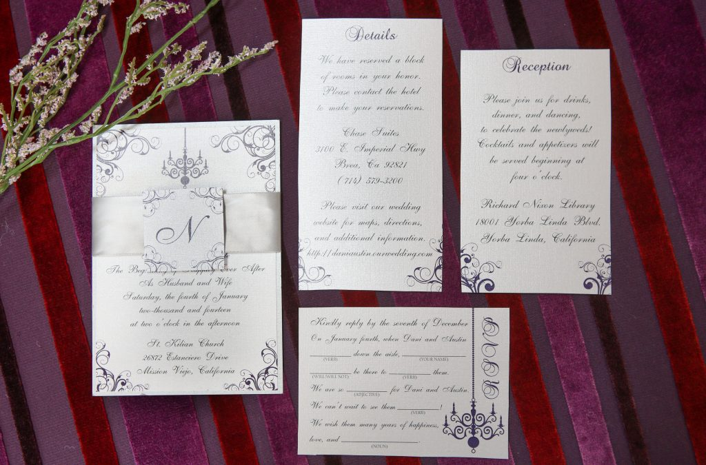 Magically Elegant Purple Invitation Collection