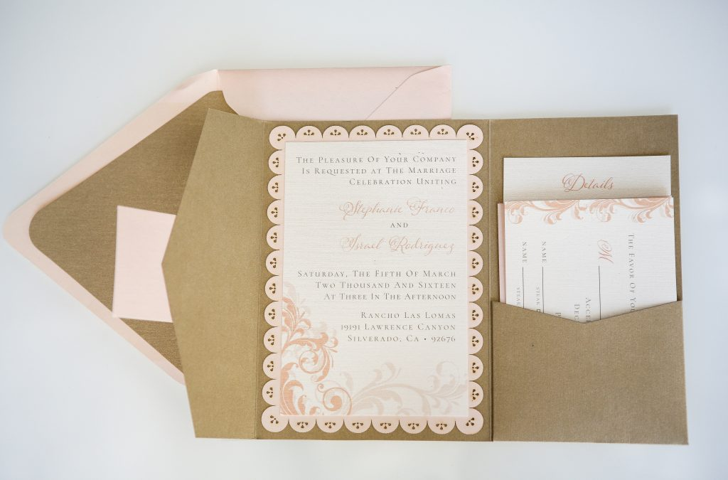 Romantic Blush Wedding Stationery