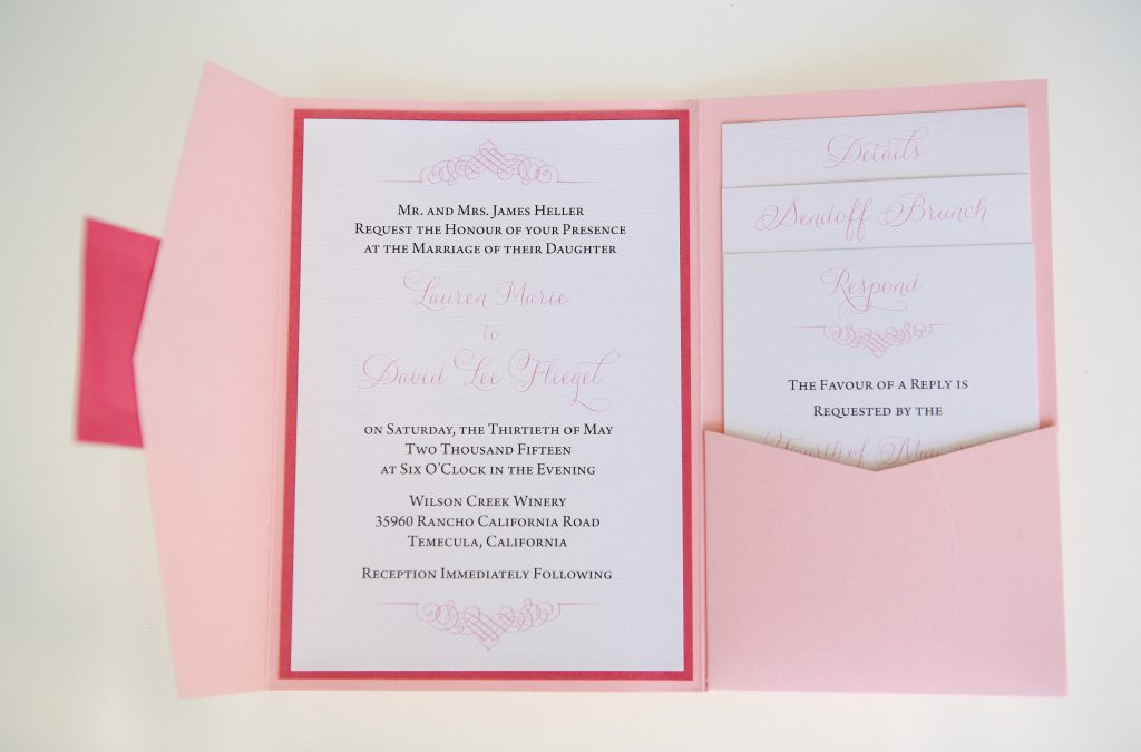 Cheeky Pink Wedding Stationery Collection
