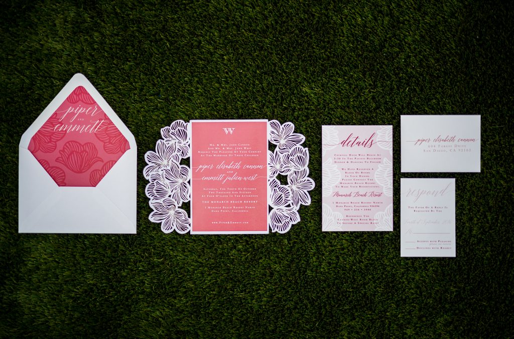 Lush Coral Wedding Stationery Collection