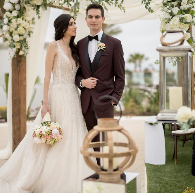Rich Greenery, White & Wood Wedding Inspiration at the Monarch Beach Resort