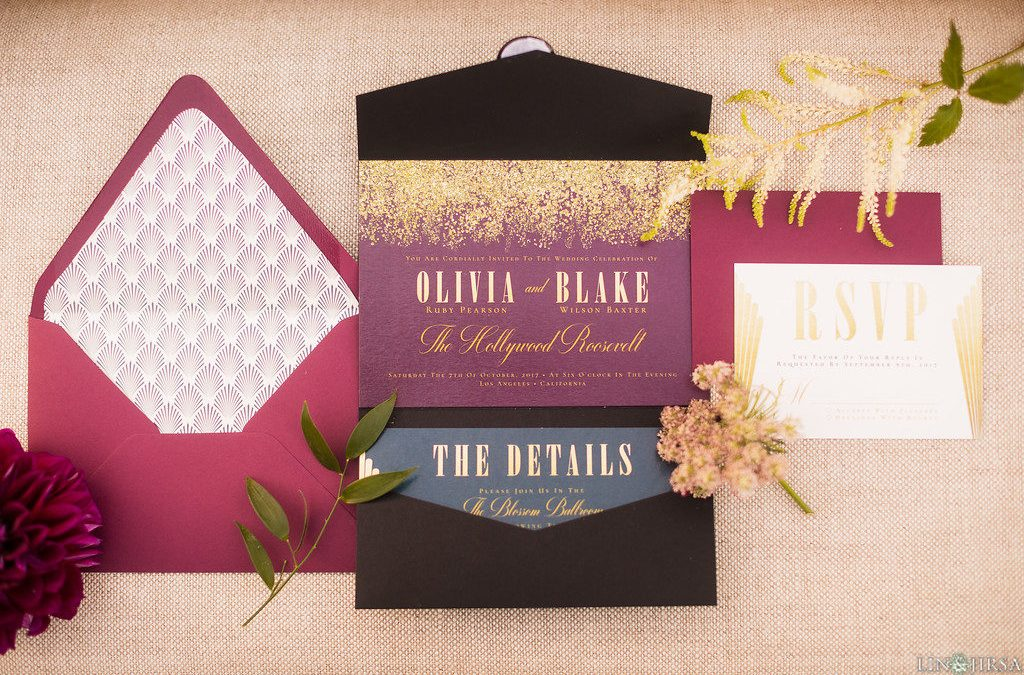 The Hollywood Roosevelt Hotel – Los Angeles Wedding – Styled Shoot: Wedding Stationery Collection