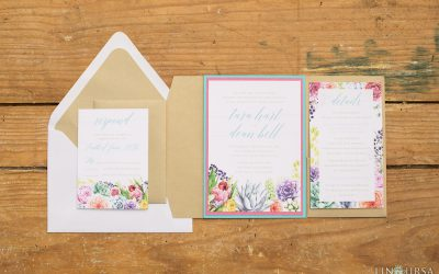 Romantic Tropical Styled Shoot: Wedding Stationery Collection
