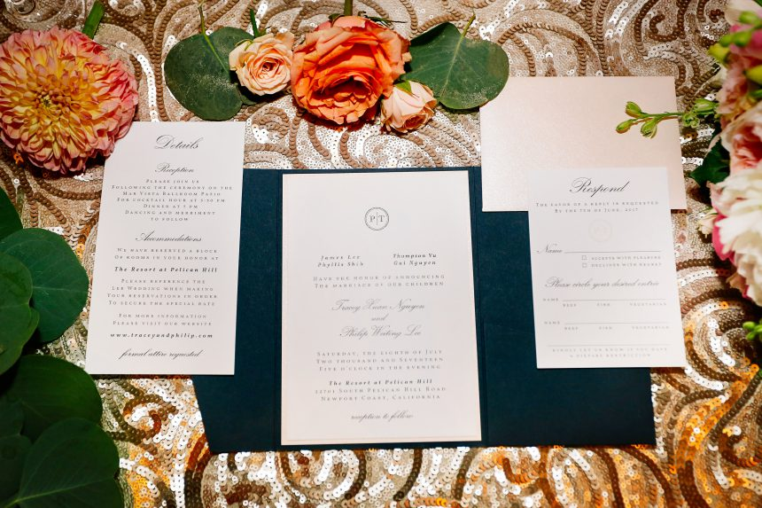 Navy & Blush Wedding Stationery Collection