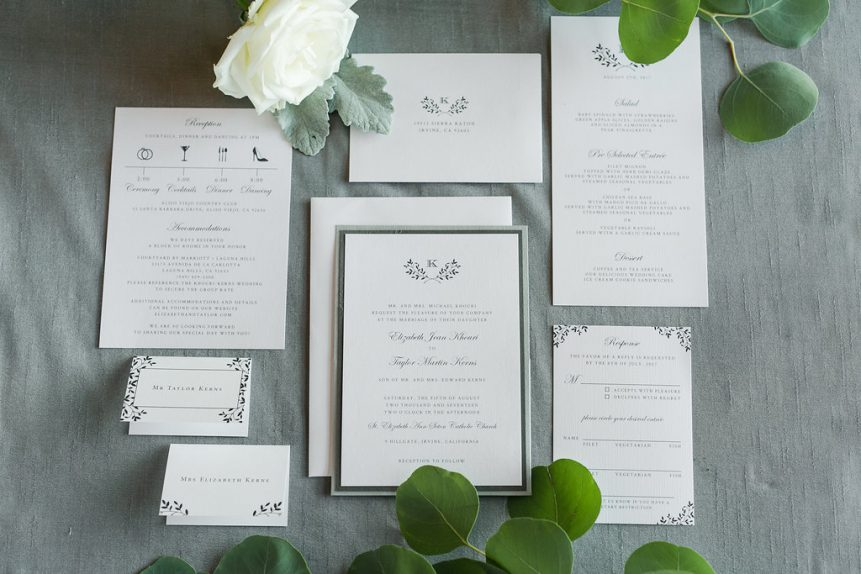 Timeless Monogram Wedding Stationery Collection