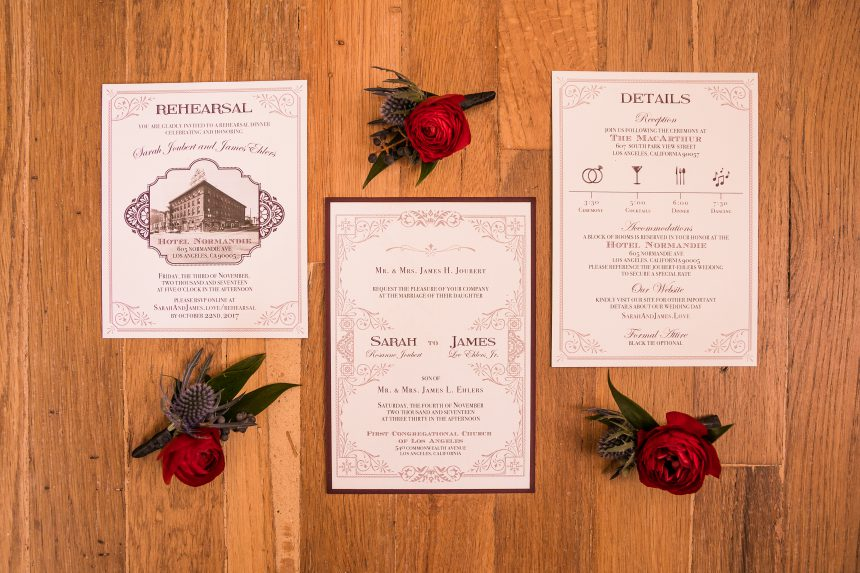 Vintage Glam Wedding Stationery Collection