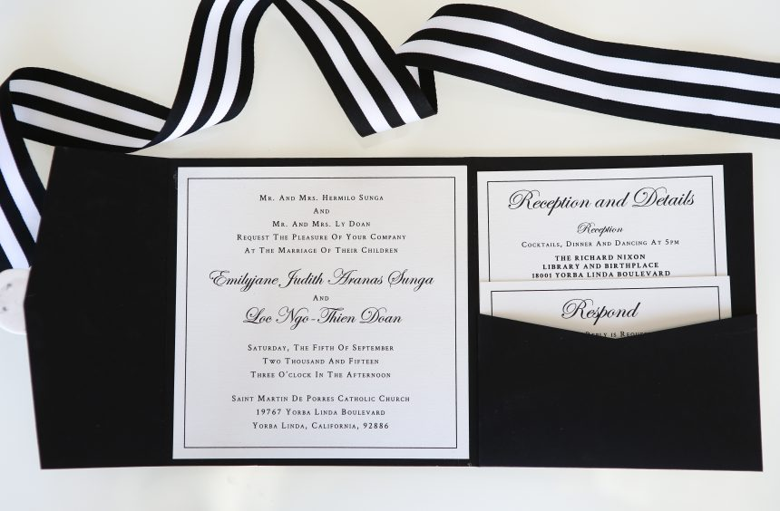 Black and White Chic Wedding Stationery Collection