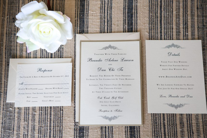 Navy & Champagne Understated Elegance Wedding Stationery Collection