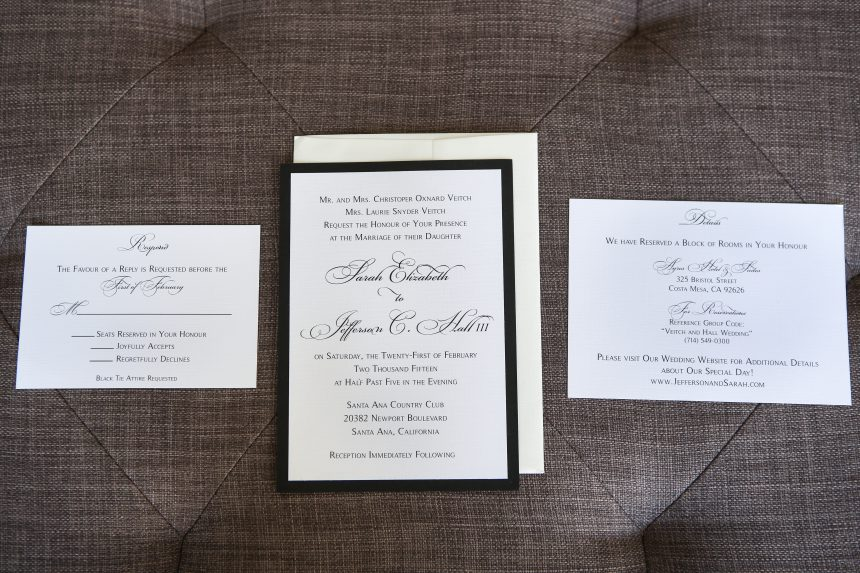 Classic Black and White Wedding Stationery Collection
