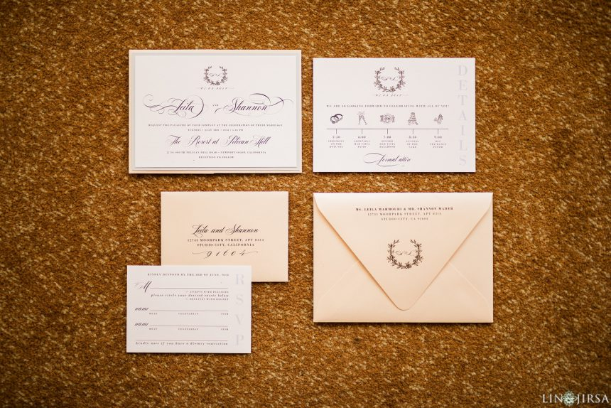 Simply Elegant Peach and White Wedding Stationery Collection