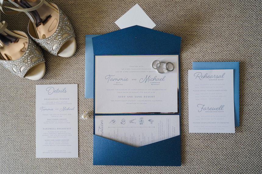 Coastal Chic Wedding Invitations