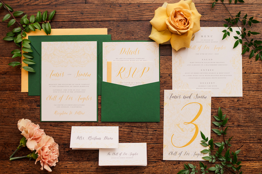 The Ebell of Los Angeles – Los Angeles Wedding – Styled Shoot: Stationery Collection